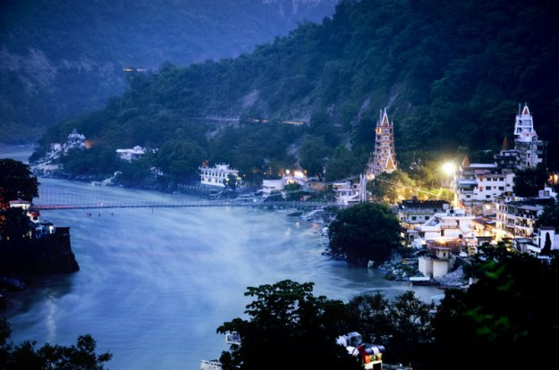 The spiritual supermarket, Rishikesh, at dusk