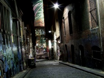 12:09 am, 'Happy New Year!', Hosier Lane.