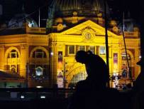 12:25 am, 'Aaagghhhh...II', St Paul's Cathedral, opp. Flinders St Station.