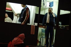 A performance about refugees and asylums seekers by the French company, Theatre Du Soleil - 2005 Melbourne International Arts Festival. Exhibition Building, Melbourne.