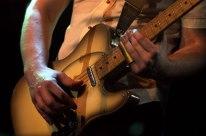 A member of Paul Kelly's band - 'Eureka 150 Festival', Ballarat, 2004
