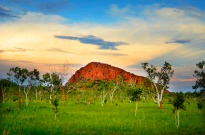 Mountain in the savannah, The Kimberley, Western Australia.