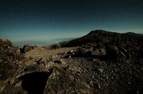 Night shot from atop Dante's peak, Death Valley, California, USA