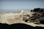 The Badlands and Zabriskie Point, at sunrise. Death Valley, California, USA.