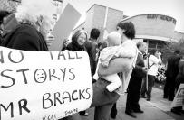 Protest against highrise development, Brunswick, Melbourne