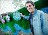 Artist, Phil Hall, and his Public Housing Commission project.