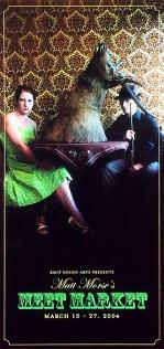 Promotional image for 'Meat Market' dance work. 2004