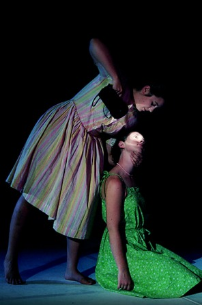 Performance image from 'Meat Market' dance piece.